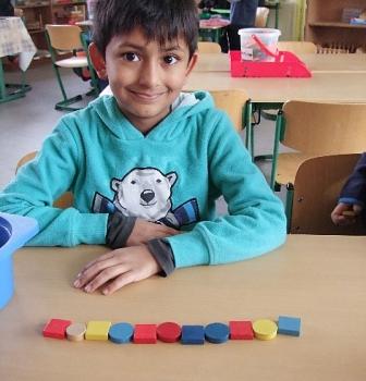 Unsere Formen- und Musterwerkstatt zusammen mit der Klasse 1a