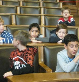 Besuch im Hamburger Rathaus